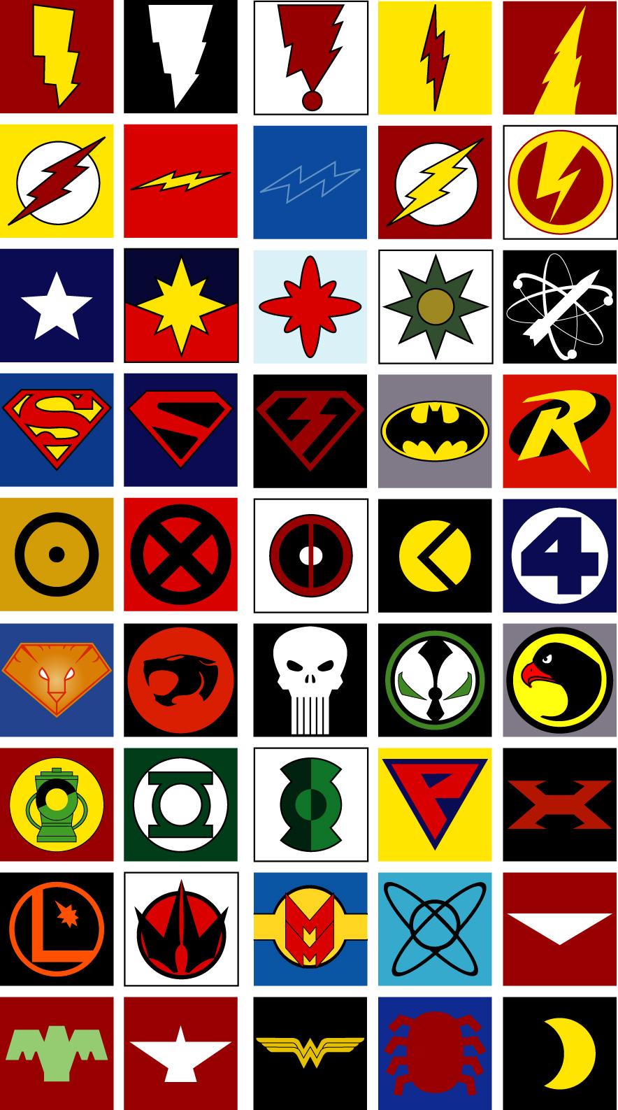 LOGOS SUPERHEROES - LoboSolitario.com