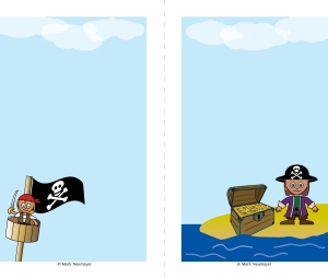 Pirate 5x7 notepaper